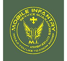 Starship Troopers - Mobile Infantry Photographic Print