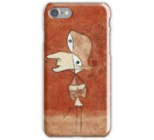 Paul Klee - Portrait Of Brigitte. Abstract painting: abstract art, geometric, bird, woman, lines, forms,  Figure, spot, shape, illusion, fantasy future iPhone Case/Skin