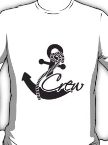 Crew anchor insignia rank T-Shirt
