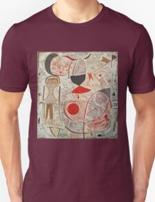 Paul Klee - Printed Sheet With Picture. Abstract painting: abstract art, geometric, woman, composition, lines, forms, creative fusion, spot, shape, illusion, fantasy future Unisex T-Shirt
