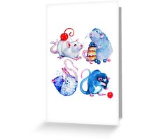 Sweet Rats Greeting Card
