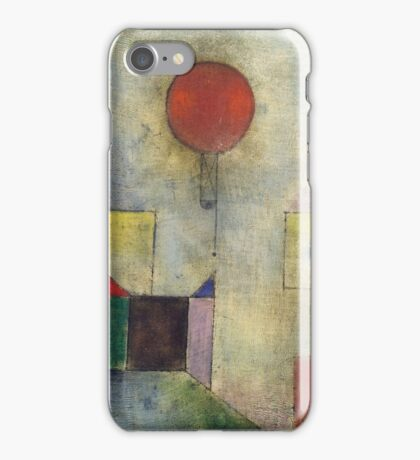 Paul Klee - Red Balloon. Abstract painting: abstract art, geometric, Balloon, composition, lines, forms, creative fusion, spot, shape, illusion, fantasy future iPhone Case/Skin