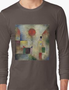 Paul Klee - Red Balloon. Abstract painting: abstract art, geometric, Balloon, composition, lines, forms, creative fusion, spot, shape, illusion, fantasy future Long Sleeve T-Shirt