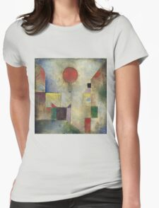 Paul Klee - Red Balloon. Abstract painting: abstract art, geometric, Balloon, composition, lines, forms, creative fusion, spot, shape, illusion, fantasy future Womens Fitted T-Shirt
