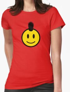 Punk Smiley Womens Fitted T-Shirt
