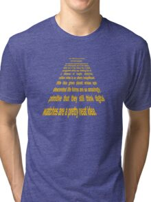 Hitchhiker's Guide to a Galaxy Far, Far Away... Tri-blend T-Shirt