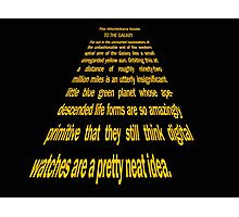 Hitchhiker's Guide Star Wars text Photographic Print