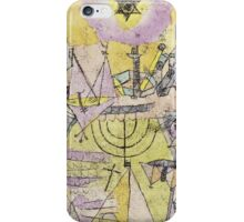 Paul Klee - The Unlucky Ships. Abstract painting: abstract art, Ships, star, composition, lines, forms, geometric, spot, shape, illusion, fantasy future iPhone Case/Skin