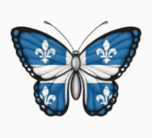 Quebec Flag Butterfly Kids Clothes