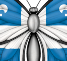 Quebec Flag Butterfly Sticker