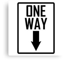 One way sign Canvas Print