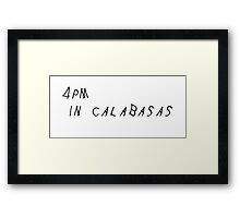 Drake - 4PM In Calabasas Framed Print