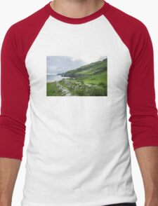 Muckross Coast, Kilcar, Co. Donegal Men's Baseball ¾ T-Shirt