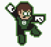 8-bit Green Lantern (powered up) Kids Clothes