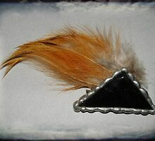 Nature inspires - Feather brooch by Maree  Clarkson