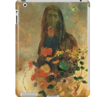 Odilon Redon - Mystery 1910. Garden landscape: garden view, trees and flowers, blossom, nature, woman, Mystery, wonderful flowers, dream, think, garden, flower iPad Case/Skin