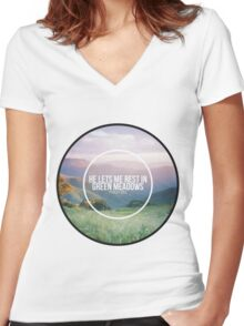 Christian Quote Women's Fitted V-Neck T-Shirt