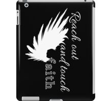 Reach out and touch faith -white iPad Case/Skin