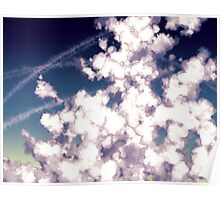 bubbly column clouds Poster
