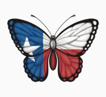 Texas Flag Butterfly Kids Clothes