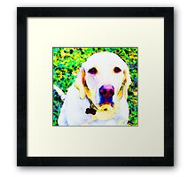 You Are My World - Yellow Lab Art Framed Print