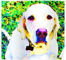 You Are My World - Yellow Lab Art Poster