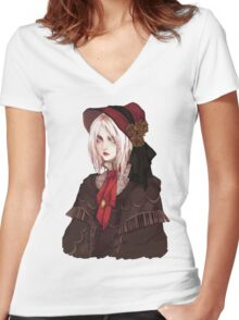 Bloodborne The Doll Women's Fitted V-Neck T-Shirt