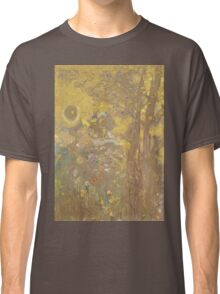 Odilon Redon - Trees On A Yellow Background 1901. Garden landscape: garden view, trees and flowers, blossom, nature, botanical park, floral flora, wonderful flowers, plants, cute plant, garden, flower Classic T-Shirt