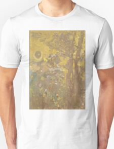 Odilon Redon - Trees On A Yellow Background 1901. Garden landscape: garden view, trees and flowers, blossom, nature, botanical park, floral flora, wonderful flowers, plants, cute plant, garden, flower Unisex T-Shirt