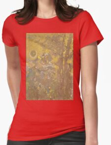 Odilon Redon - Trees On A Yellow Background 1901. Garden landscape: garden view, trees and flowers, blossom, nature, botanical park, floral flora, wonderful flowers, plants, cute plant, garden, flower Womens Fitted T-Shirt