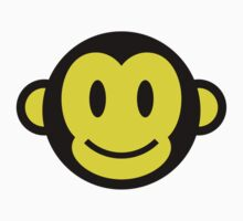 Monkey Smiley Baby Tee