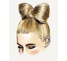 Blonde bow bun Photographic Print