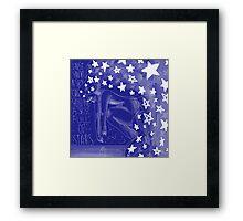 Sky Full Of Stars - With Words Framed Print