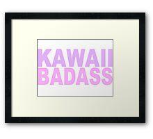 Kawaii Badass Framed Print