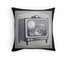 Kooky TV Throw Pillow