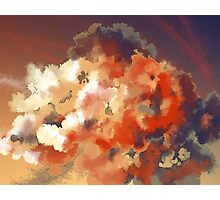 red dusk Photographic Print