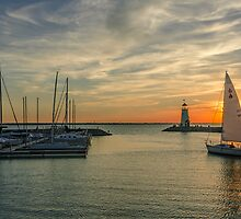 Sailboat Evening by JohnDSmith