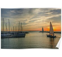Sailboat Evening Poster