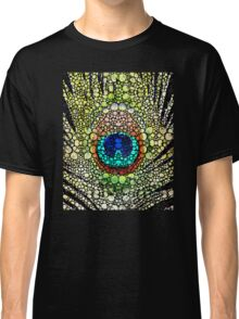 Peacock Feather - Stone Rock'd Art by Sharon Cummings Classic T-Shirt