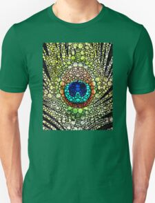 Peacock Feather - Stone Rock'd Art by Sharon Cummings Unisex T-Shirt