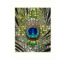 Peacock Feather - Stone Rock'd Art by Sharon Cummings Art Print