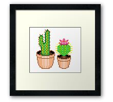 Pixel Cacti Framed Print