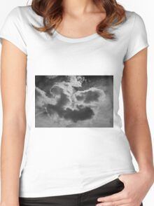 Cloudscape XVII BW Women's Fitted Scoop T-Shirt