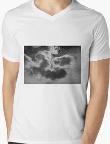 Cloudscape XVII BW Mens V-Neck T-Shirt