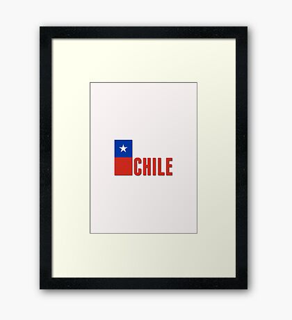 World Cup: Chile Framed Print