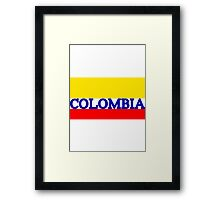 World Cup: Colombia Framed Print