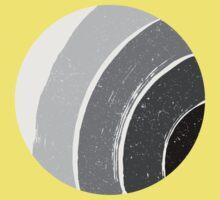 Brush Abstract 4 Grey Kids Tee