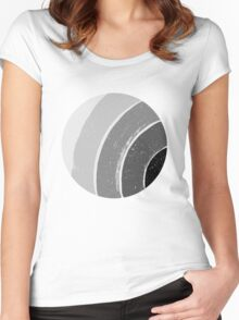 Brush Abstract 4 Grey Women's Fitted Scoop T-Shirt