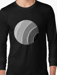 Brush Abstract 4 Grey Long Sleeve T-Shirt
