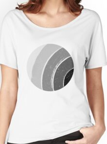 Brush Abstract 4 Grey Women's Relaxed Fit T-Shirt